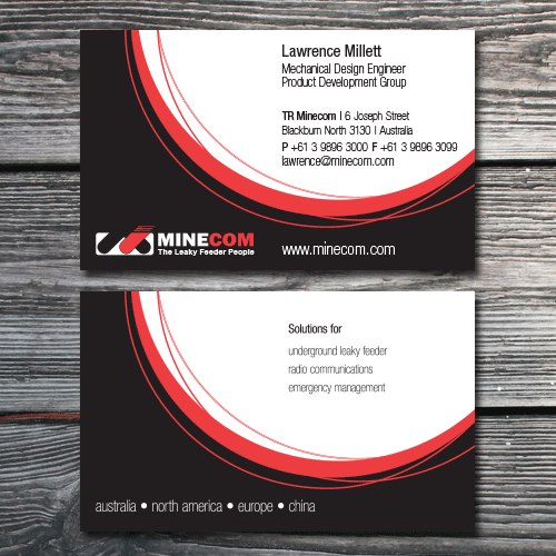 Graphic designer from maui work samples business card design for minecom reheart Choice Image